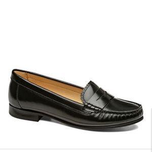 Jack Rogers Quinn Penny Loafer Black Leather